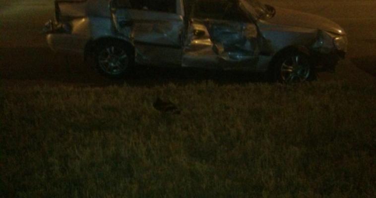 Пьяный водитель врезался в ограждение