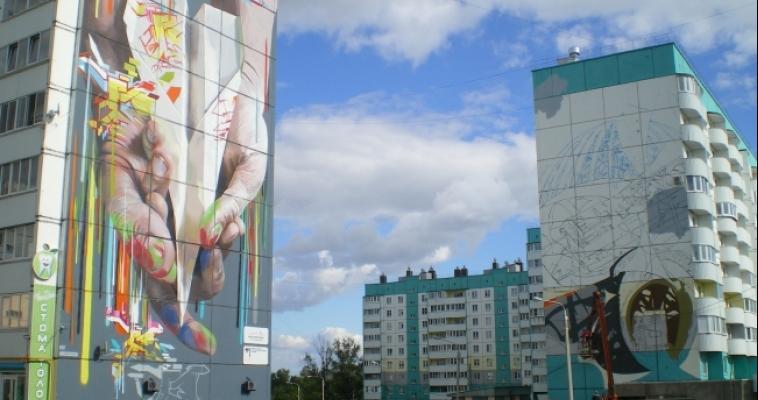 Городские пейзажи Екатеринбурга начали приобретать цвет