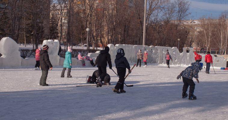 Торжественное открытие и зимние соревнования. Почти все катки уже залиты
