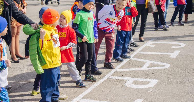 Детские сады посоревновались в эстафете