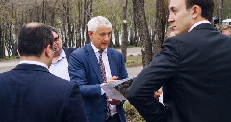 Глава города рассказал о начале обновления парка Победы