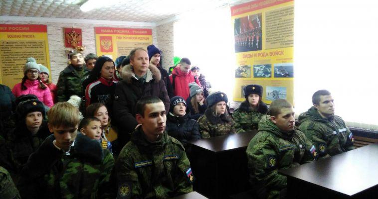 В гости к солдатам. Школьники побывали в казарме