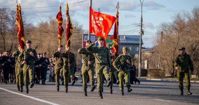 В Магнитогорске состоялась первая репетиция парада Победы