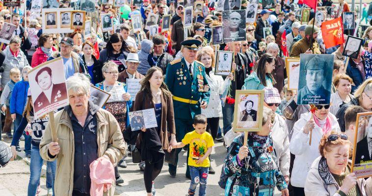 Магнитогорск отметил День Победы грандиозным шествием