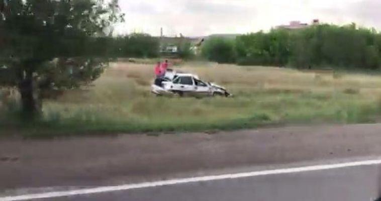 Автомобиль слетел с дороги на 12 участке