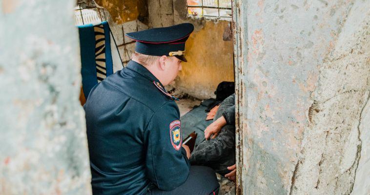 Бездомные оккупировали один из городских дворов