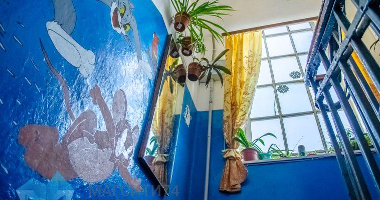 Жители улицы Пионерской создали сказку в своём подъезде