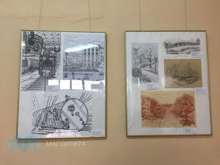 В магнитогорской школе открылась персональная выставка юного художника