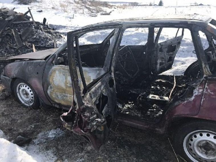 В Нагайбакском районе водитель сгорел заживо