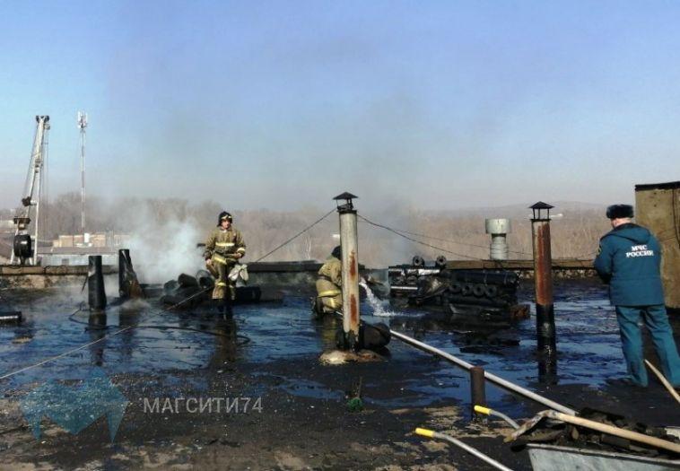 В Магнитогорске на крыше завода взорвались три газовых баллона
