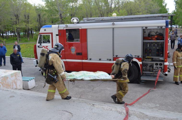 В горбольнице №3 прошли пожарные учения