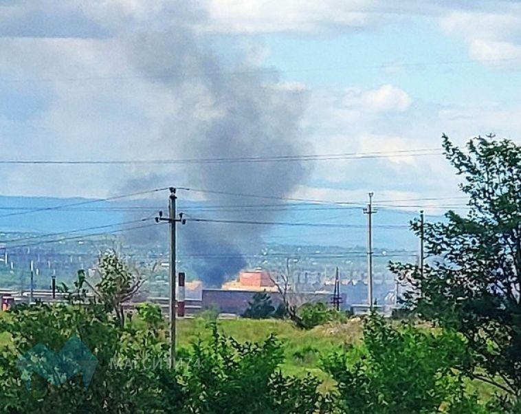 На магнитогорском предприятии случился пожар