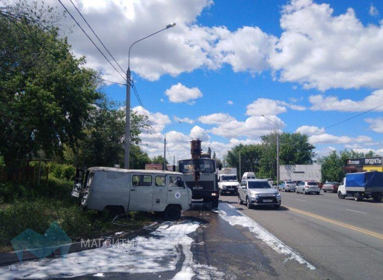«УАЗ» перевернулся после встречи на дороге с пьяным водителем