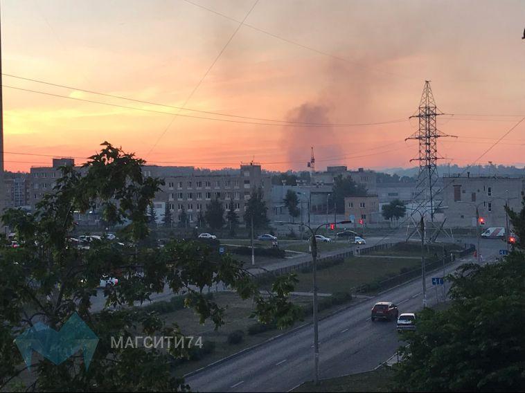 В южной части города горела лесополоса