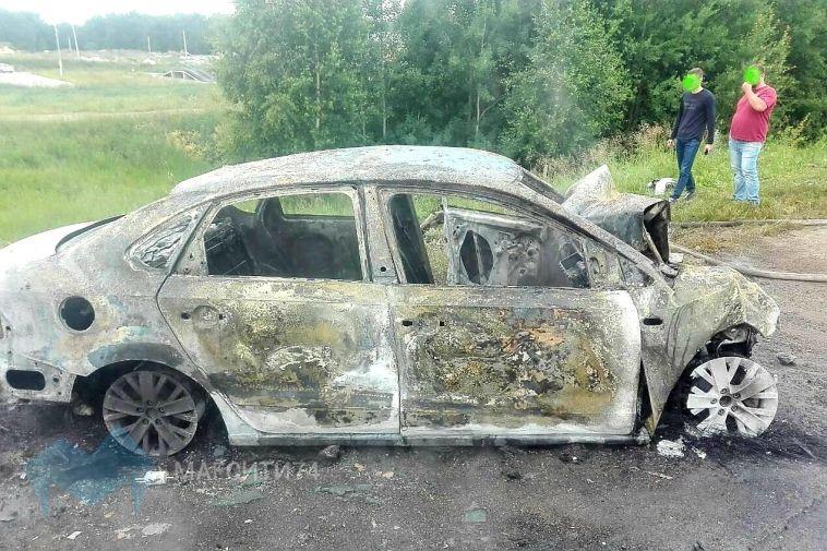На трассе водитель сгорел заживо после столкновения со встречным авто