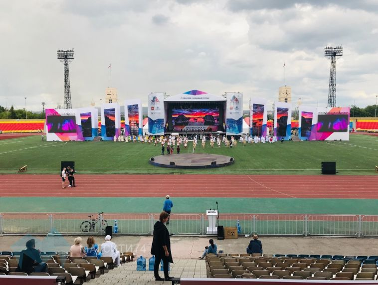 На Центральном стадионе прошла финальная репетиция Дня города