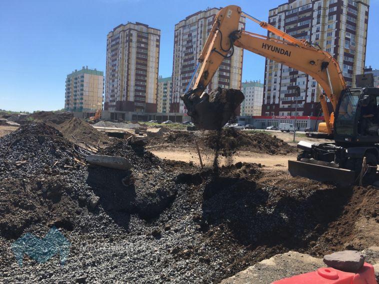 В Магнитогорске на Зелёном Логе строят новую дорогу