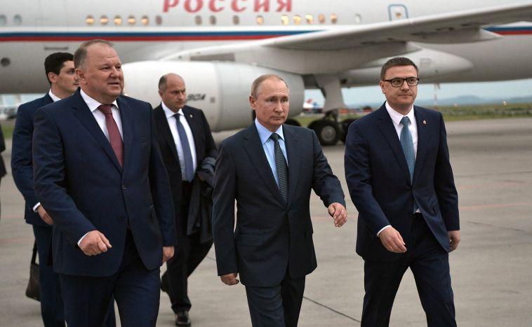 Президентский самолет приземлился в аэропорту Магнитогорска