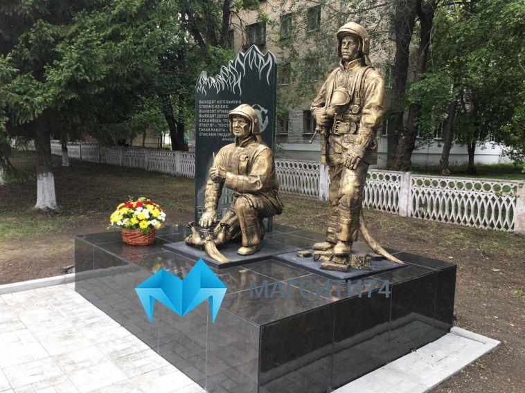 В Магнитогорске открыли мемориал пожарным