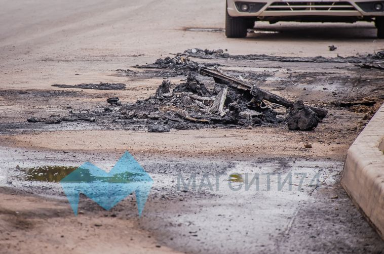 Сегодня ночью на улице Тевосяна горели две иномарки