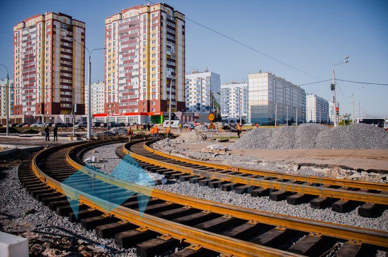 В южной части города прокладывают трамвайные пути