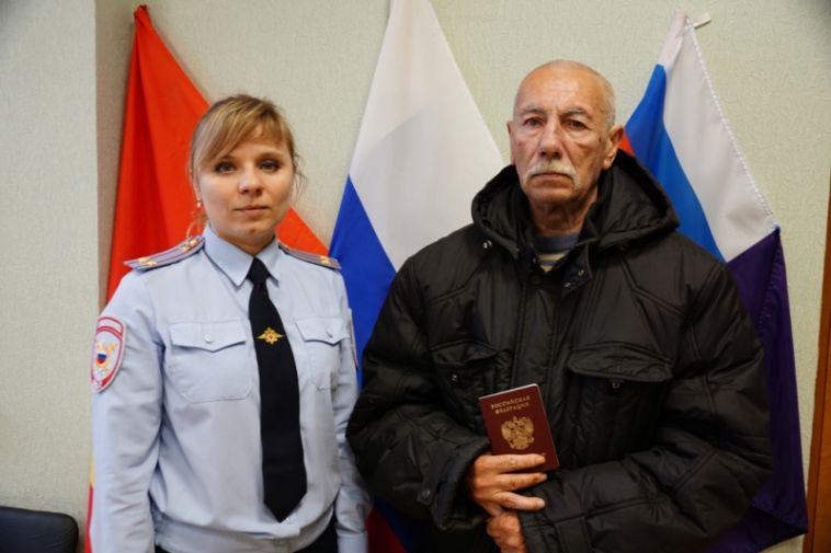 Полицейские помогли бездомному получить паспорт имедицинскую помощь