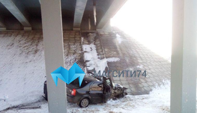 По дороге в Верхнеуральск водитель не справился с управлением