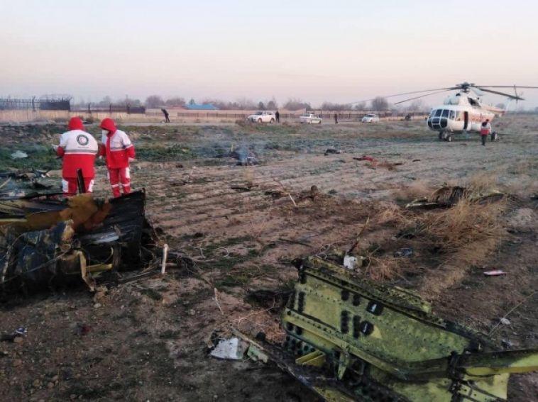Украинский самолёт разбился вИране