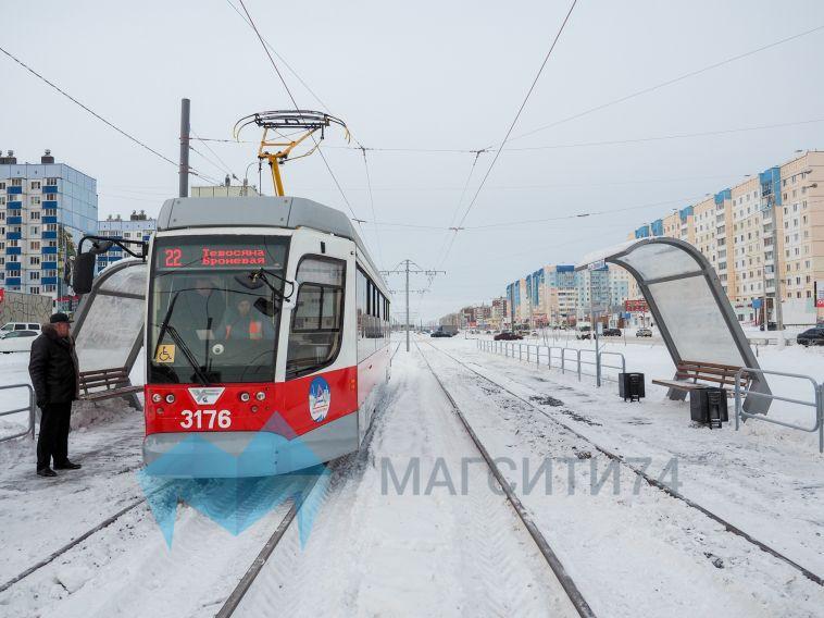 График движения вагонов по новой трамвайной ветке в Магнитогорске скорректировали