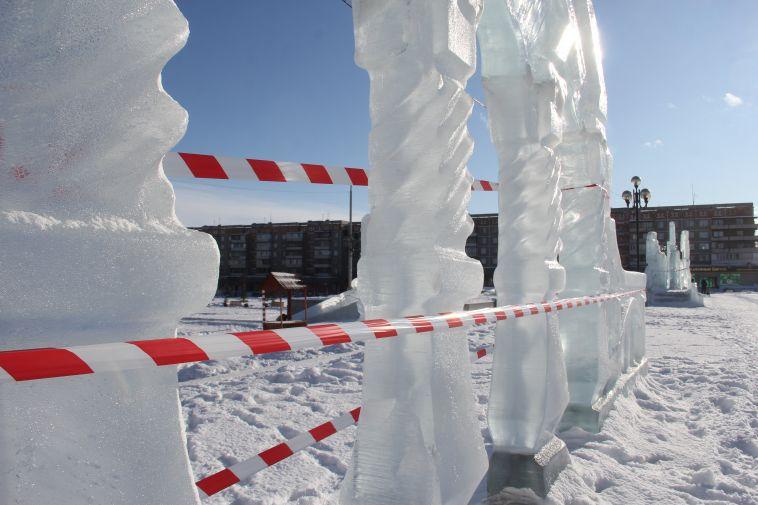 Ледовый городок на главной городской площади закрыли