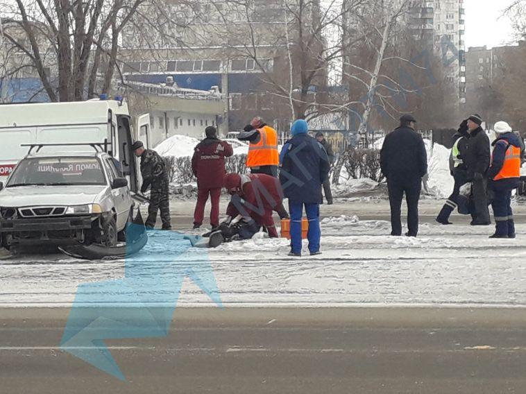 НаСоветской сбили женщину, переходившую дорогу накрасный
