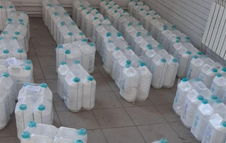 Целую тонну антисептика пытались вывезти изЧелябинской области