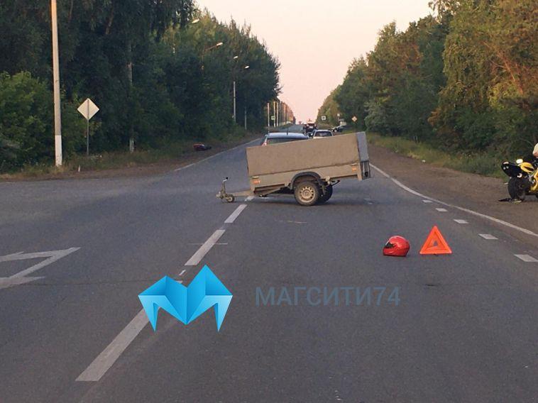 25-летний мотоциклист погиб при столкновении с иномаркой в Магнитогорске