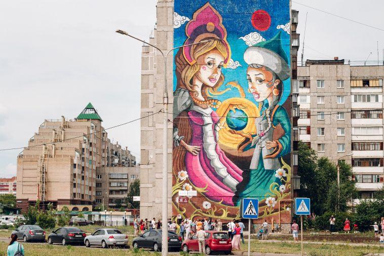 Масштабные граффити украсят фасады домов на Зелёном Логе