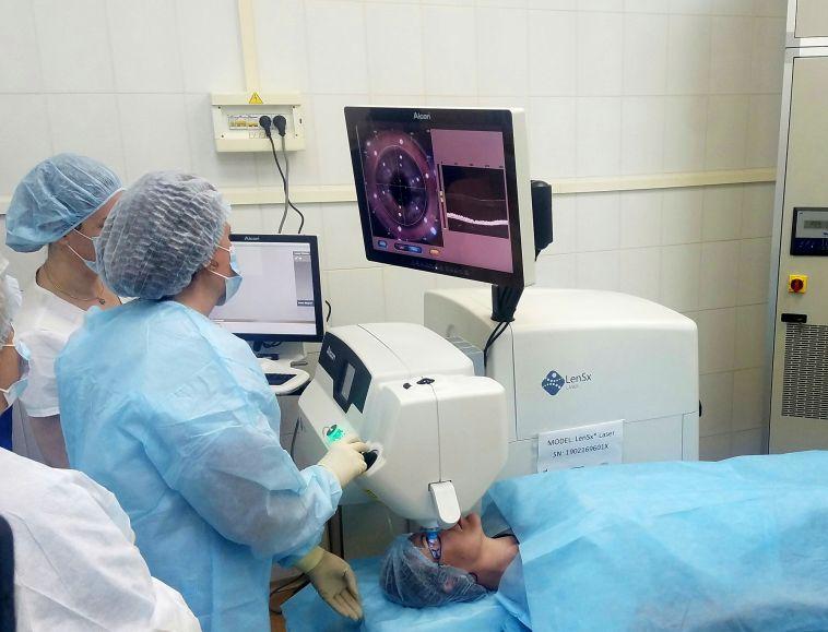 В офтальмологической поликлинике Медсанчасти появилось новое уникальное оборудование