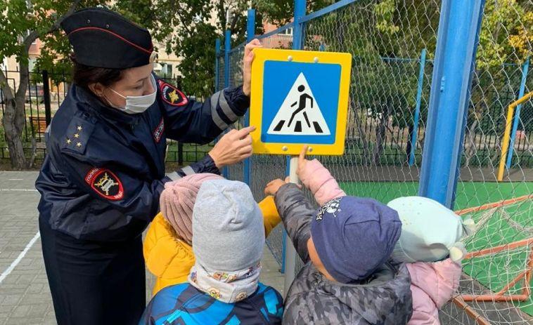 Госавтоинспекция провела соревнования «Крылатые коньки» для детей