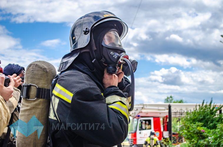 В Магнитогорске в пожаре пострадал мужчина