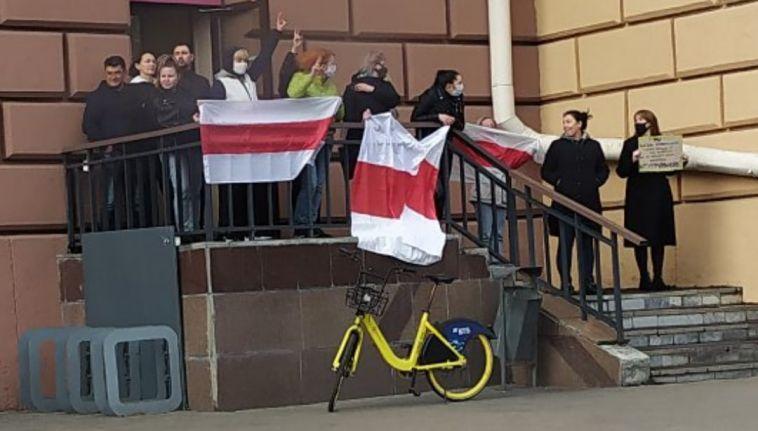 ВБеларуси состоялась акция вподдержку забастовок