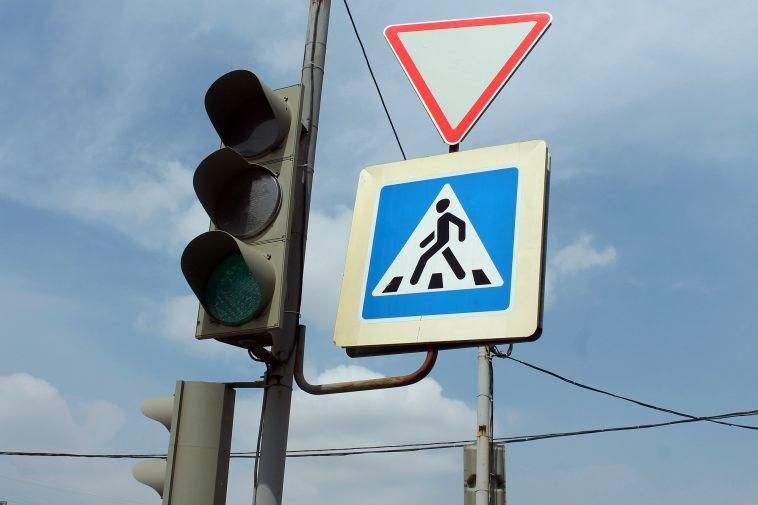 На Советской установили светофоры с кнопкой