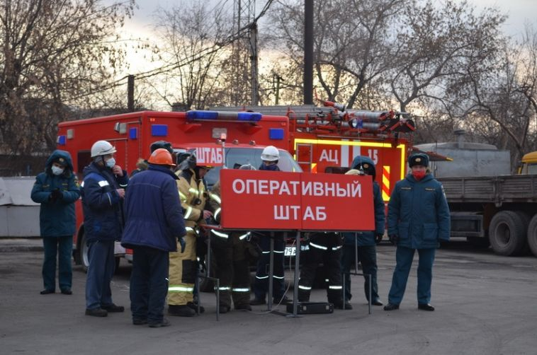 Накомбинате прошли пожарные учения
