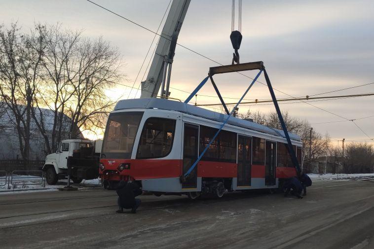 В Магнитогорск прибыл девятый новый трамвай
