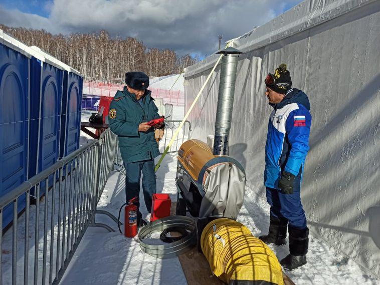 Сотрудники МЧС побывали на Банном в преддверии этапа Кубка мира по сноуборду