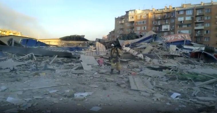 ВоВладикавказе взорвался один изсупермаркетов
