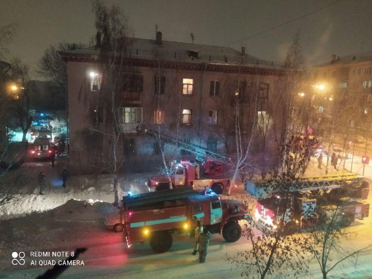 ВМагнитогорске вжилом доме случился пожар