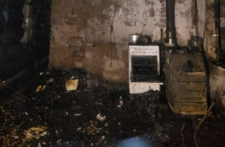 ВАгаповском районе впожаре пострадал мужчина