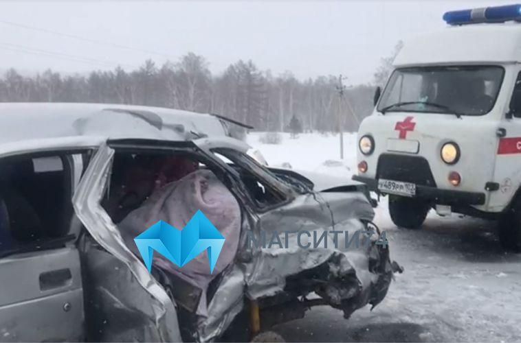 ВАбзелиловском районе смертельный занос «ВАЗ-21102» попал на видео