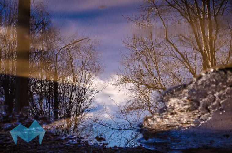 В Челябинской области из-за таяния снега подтопило дороги