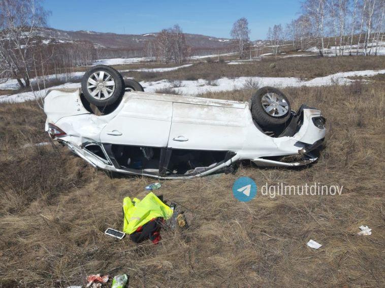 На трассе Магнитогорск-Ира водитель сломал позвоночник