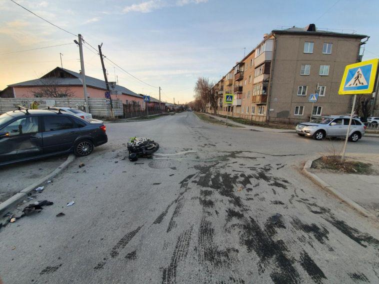ВМагнитогорске вДТП пострадал пьяный мотоциклист