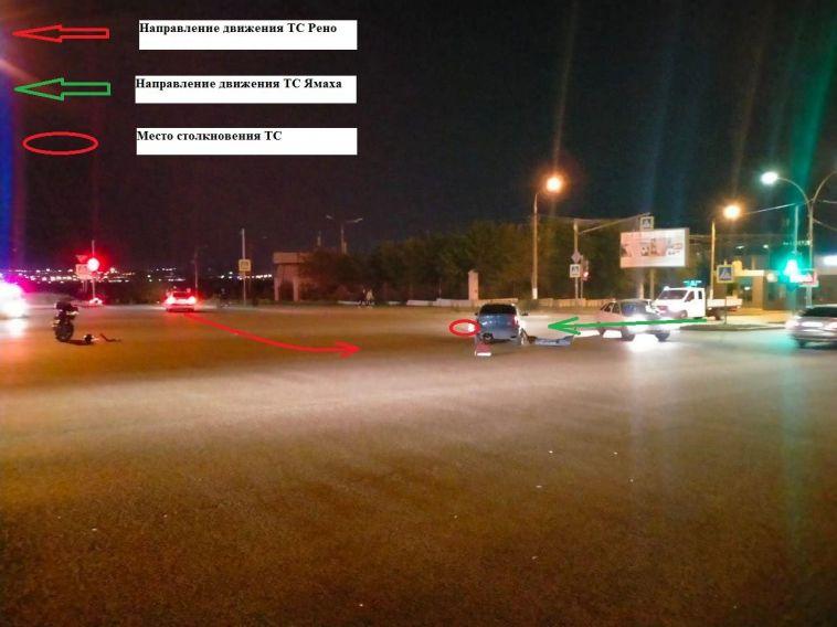 Мотоциклист и его 16-летняя пассажирка пострадали в ДТП накануне
